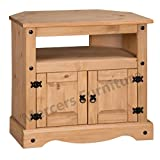 Mercers Furniture Corona Ecke TV-Gerät, Holz, Antique Wax, 85 x 43 x 79 cm